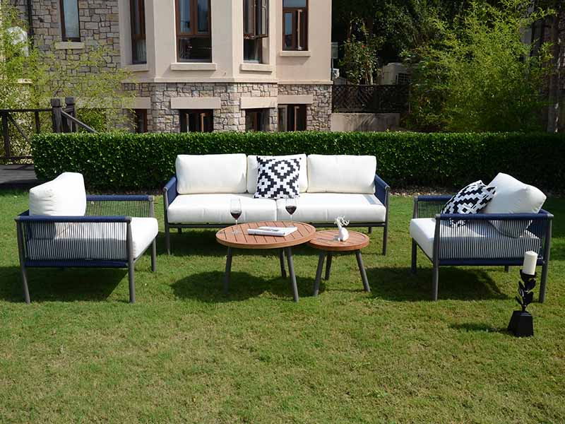 garden sofa with table