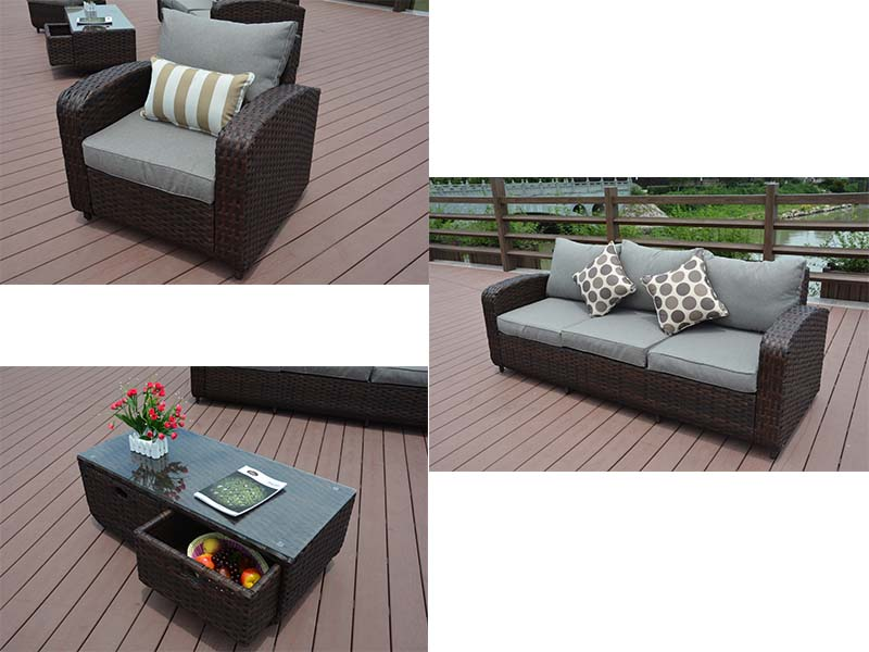 patio wicker sofa set