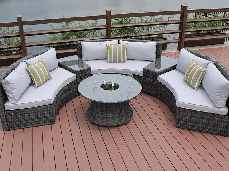 backyard rattan wicker sofa